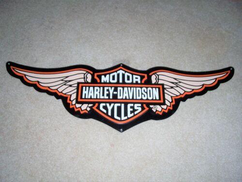 Harley Davidson Wings Metal Tin Tacker Sign New