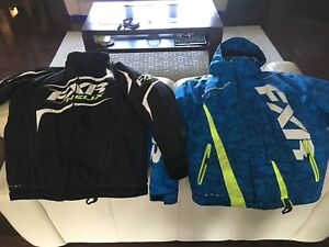2 youth fxr snowmobile jackets size 10
