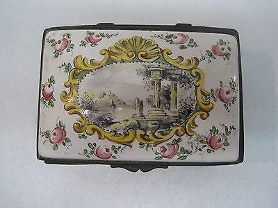 Antique 19th Century Hand Painted Porcelain Box