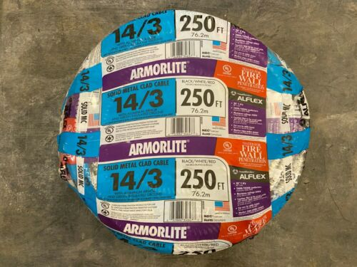 Southwire Armorlite 250ft 14/3 Solid Aluminum MC Cable