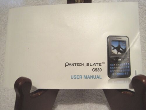 Pantech Slate C530 User Manual English & Spanish ATT phone Have lost yours?