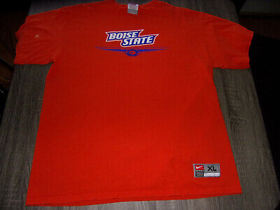 Nike Team Apparel Boise State University Broncos Orange College Tshirt Size XL