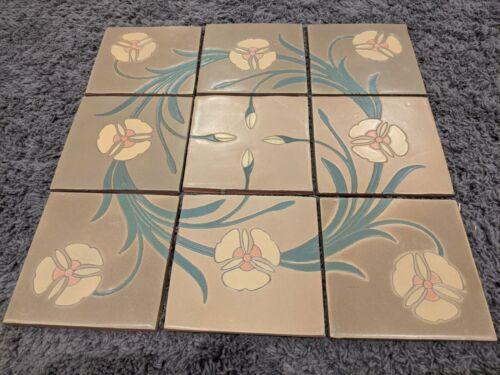 Van Briggle Tile - rare 9 piece mosaic