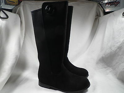 MICHAEL KORS EMMA LILY TODDLER/BABY BLACK SUEDE BOOTS GIRLS SIZE 5