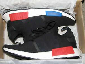 Adidas NMD R1 PK Primeknit OG Black Red White Blue ** DEADSTOCK