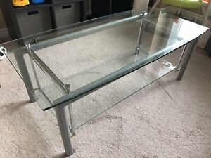 Like new glass coffee table