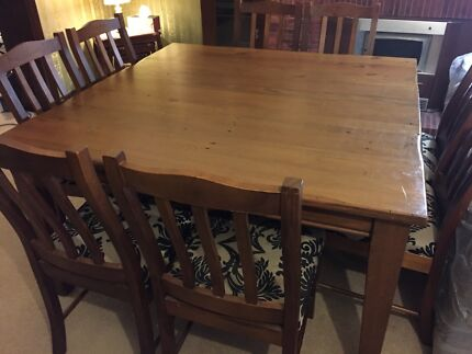 Square 8 Seater Dining Table wood  Beecroft Hornsby Area Preview