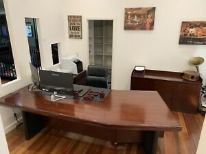 Large timber computer desk Burbank Brisbane South East Preview
