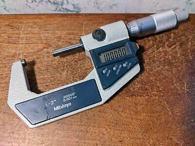 Mitutoyo 1-2 Inch Digital Micrometer No 293-722-30 - Lot1