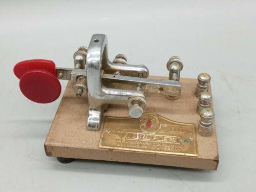 Vibroplex Lightening Bug Vibrokeyer Telegraph Key Vintage  SN 244249