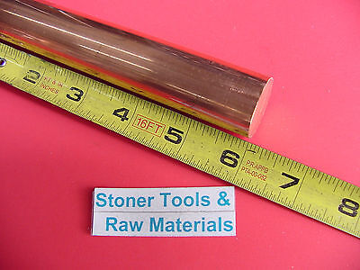 1 12 C110 Copper Round Rod 6 Long 2 Pieces H04 Solid Cu Lathe Bar Stock