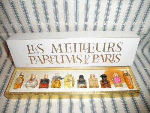 Rare Vintage Set of 10 Mini Les Meilleurs Parfums de Paris in Original Box
