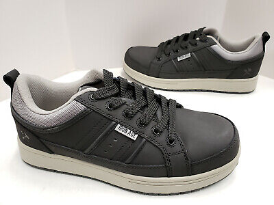 Mens Iron Age BOARD RAGE Leather Skate Steel Toe Industrial Shoes IA5301 Black