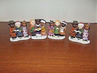 Holiday Christmas Caroling Singing Children Figurine (SET OF 4)**FREE SHIPPING!! ()