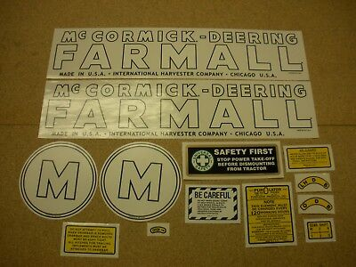 Mccormick Deering Farmall Model M Decal Set New Free Shipping