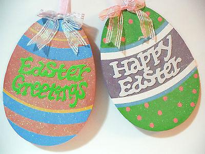 Easter Glittered Egg Hanger W  Happy Easter Easter Greetings
