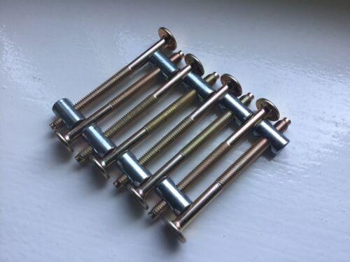 Innensechskantschlüssel /& Bett//Gitterbett Bolzen 4 Sätze von M6 X 115mm Bolzen