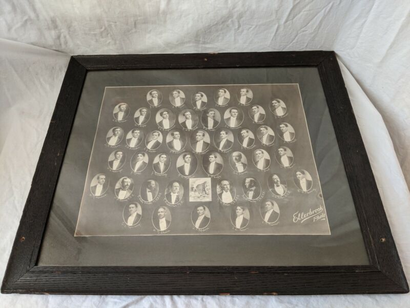 Vintage 1906?  PSI OMEGA Dental Fraternity DENTISTRY antique photo framed!