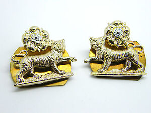 THE YORK AND LANCASTER REGIMENT MILITARY ARMY COLLAR BADGES