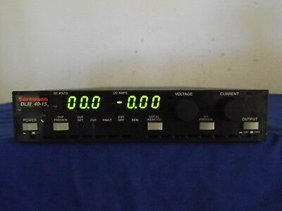 Sorensen Dlm40-15 M21m85 Dc Power Supply