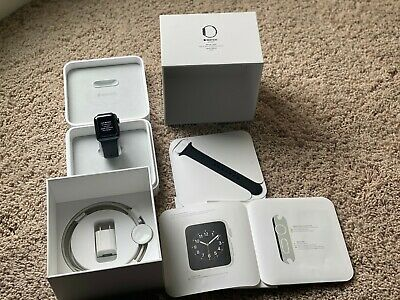 Apple Watch Series 2 38mm Aluminum Case Black Sport Band WITH ORIGINAL PACKAGING