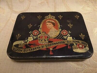 Vintage Queen Elizabeth II Coronation 2nd June 1953 Tin