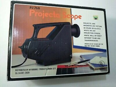 Vintage Projecta Scope Pj768 In Original Box - Art Drawing Tracing Projector