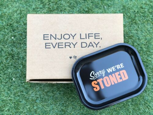 """Small Metal Rolling Tray 7"""" x 5.5"""" Tobacco Rolling Tray"""