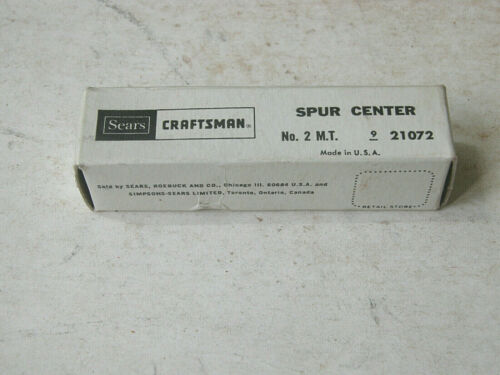 Craftsman Lathe Morse Taper Spur Center 21072 no.2 M.T.