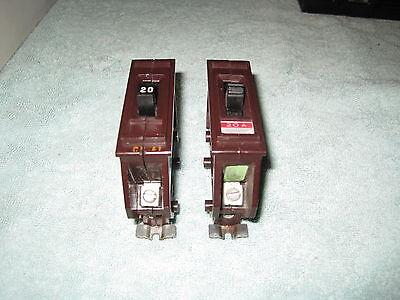 WADSWORTH 20 Amp CIRCUIT BREAKER Type A  120V Single Pole A120 METAL FOOT Amp Single Pole Circuit Breaker