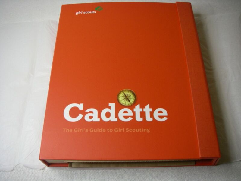 LOT of Brand NEW Girl Scouts Cadette Guide Manual 2011 Red Binder Folder Brownie