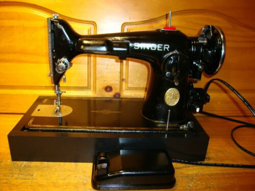 WWII  SINGER SEWING MACHINE MODEL 201-2  , SERVICED