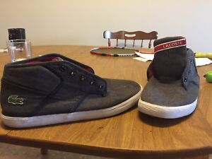 Almost new Lacoste shoes size 9.5