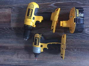 Dewalt 18v cordless drill and impact w/ battery