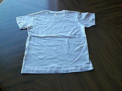 Plain White T-Shirt Short Sleeve Organic Cotton Size 2 American Apparel