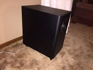 "Pioneer 6"" wired subwoofer"