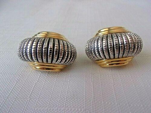 Joan Rivers Two-Tone Shrimp Hoop Clip-on Earrings