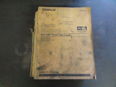 Caterpillar 973 Lgp Track Loader Parts Manual 86g3000-up Sebp2394-01 1998