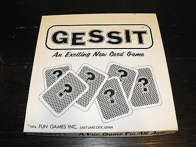 Vintage 1974 Gessit? - An Exciting New Card Game - Fun Games, Inc. ()