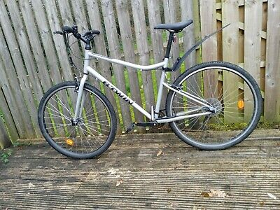 Btwin Riverside 100 Hybrid Unisex Bike size L, Helmet, Lock and Fender included