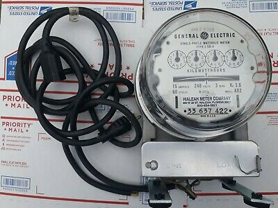 Vintage Ge Single Phase Watthour Electricity Meter I-50-a Model Ar2