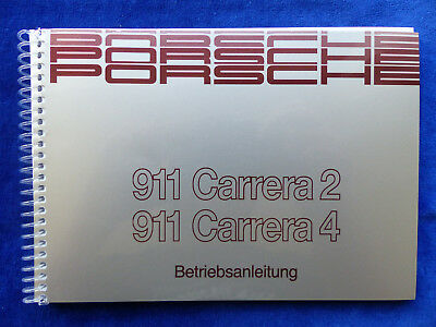 Porsche 911 Carrera 2 Carrera 4 Typ 964 - Betriebsanleitung Handbuch 05.1989