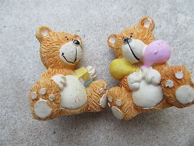 China Teddy ornaments x 2