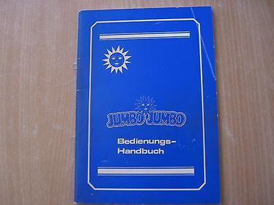 Jumbo Jumbo Bedienungsanleitung (mit Schaltpläne) Ausgabe 10.1994
