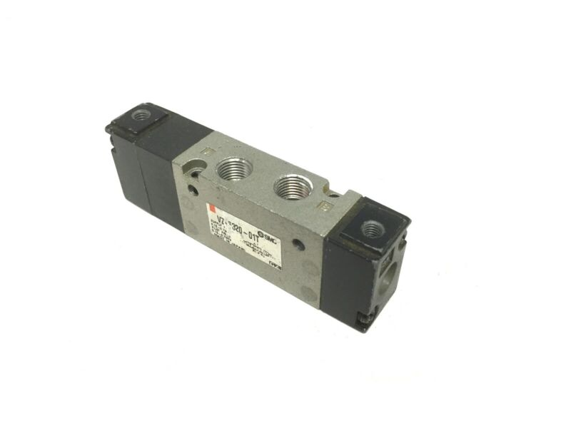 """SMC Air Operated Valve, 3-Position 5-Way, Spring Centered, Ports: 1/8"""" NPT"""