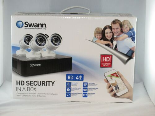 Swann Complete 8 Channel Security Monitoring System with 4 Cameras NIB!