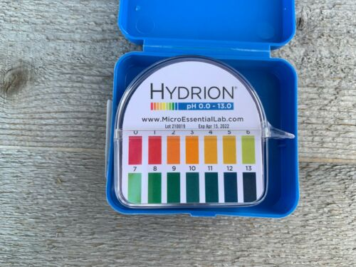NEW Insta-Chek Hydrion New Pig PLS236 Water PH Test Paper 0-13 Free Shipping!