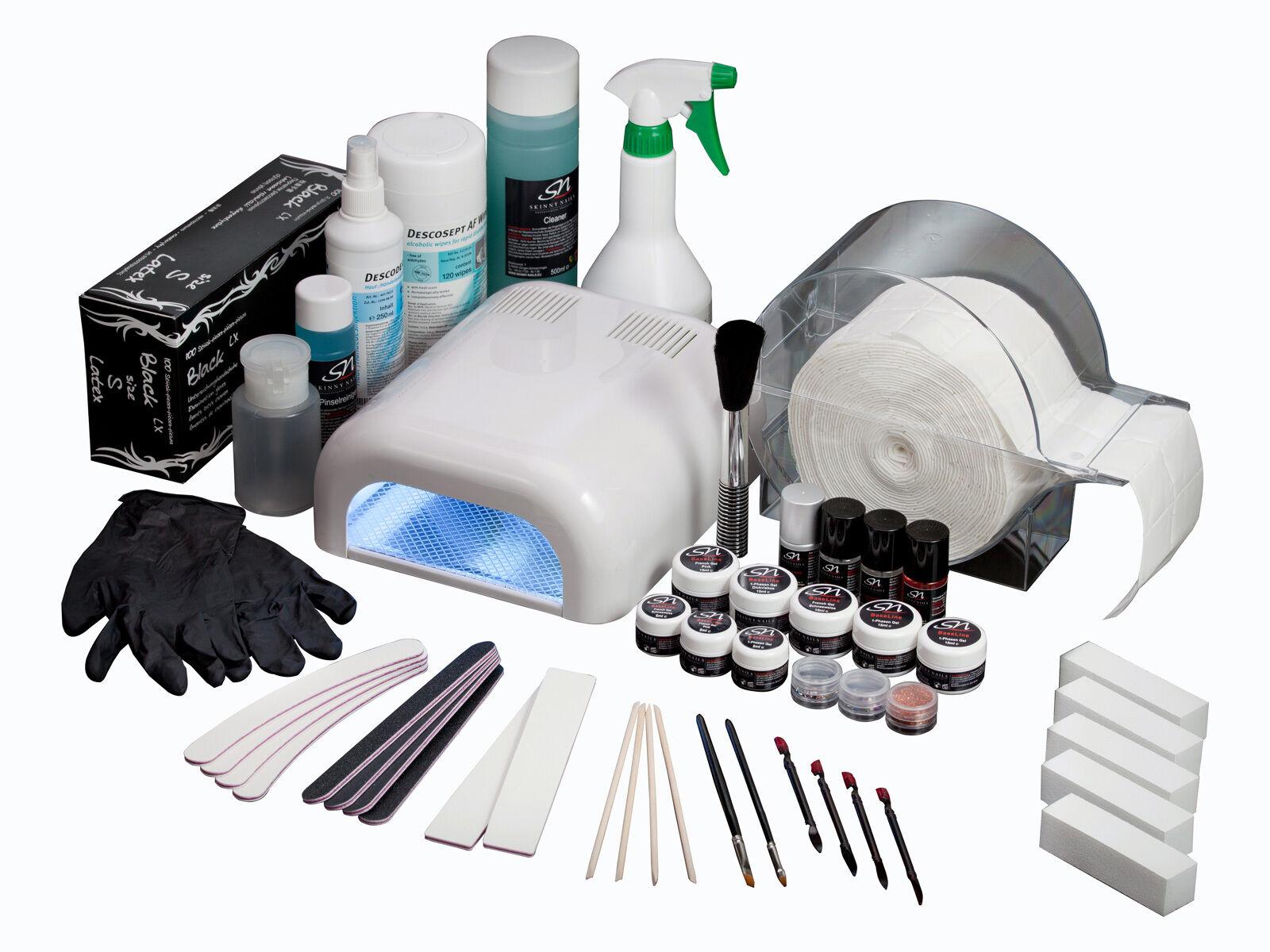 Naturnagelverstärkung Nagelstudio Starterset Nagelset UV Gel Nageldesign Set A3