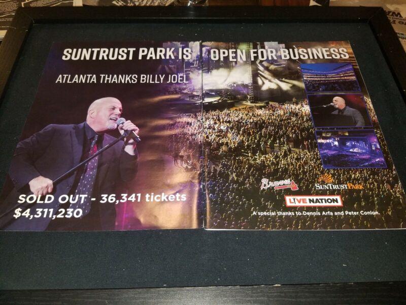 Billy Joel Suntrust Park Atlanta Rare Original Concert Promo Poster Ad Framed!