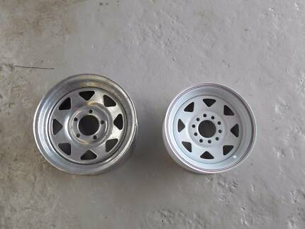 "Trailer Wheels 14"" and 13"" To Suit Early Ford and Holden"